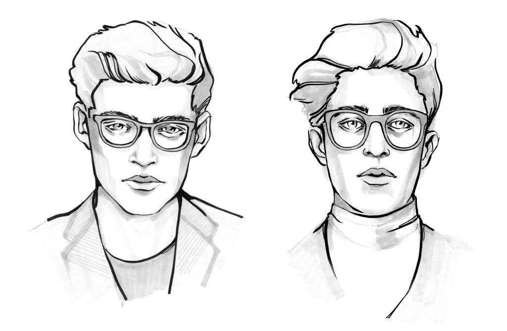 Módní ilustrace - portréty