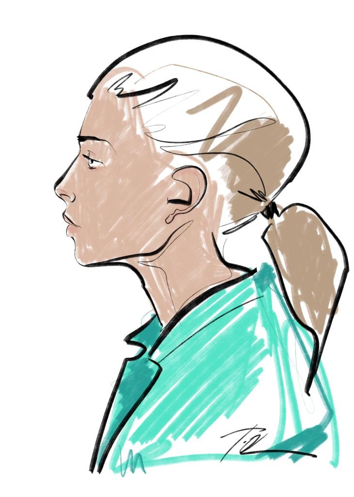 portret barva